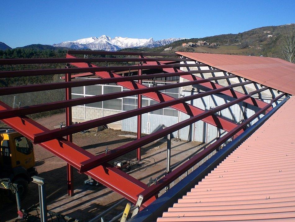 Estructuras met licas taller hermanos plazataller - Estructuras de madera para tejados ...